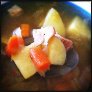 Kicked-up Oktoberfest soup