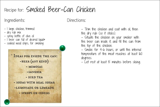 beer can chicken recipe card