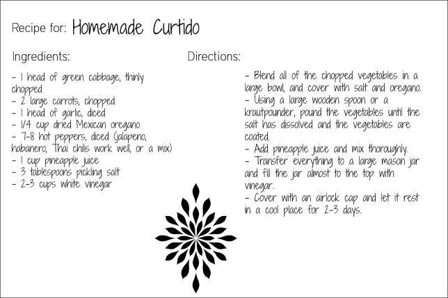 curtido recipe card