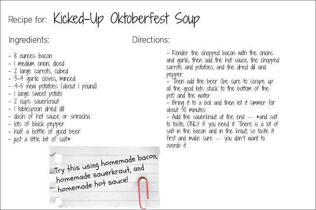 oktoberfest soup recipe card
