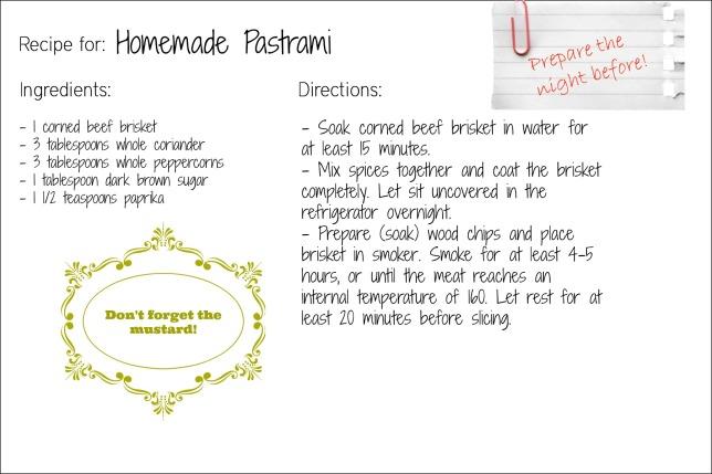 pastrami recipe card