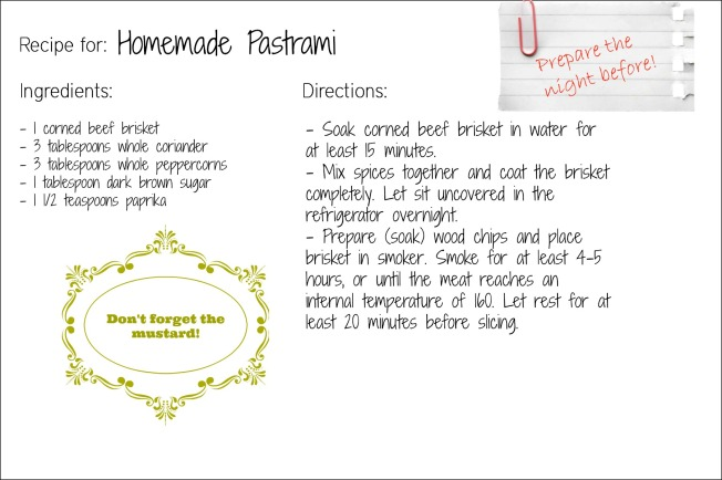 pastrami recipe card