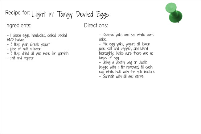 tangy egg recipe card