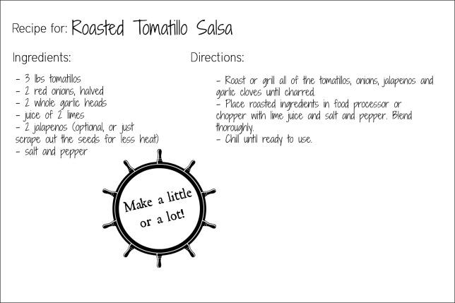 tomatillo salsa recipe card