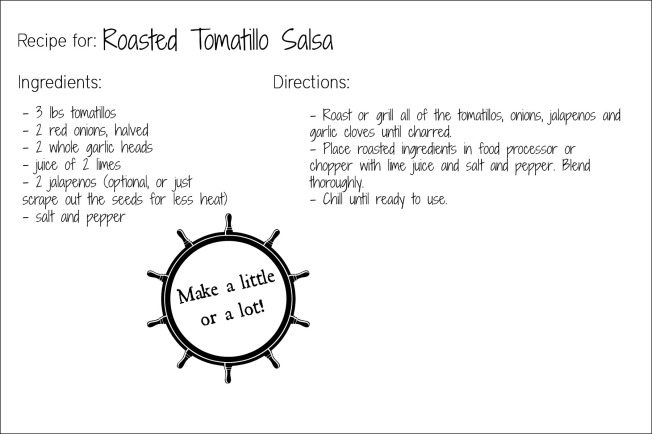 tomatillo salsa recipe card