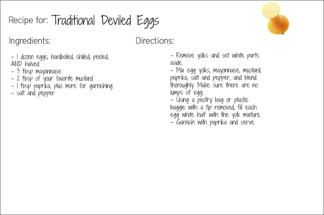 traditional eggs recipe card