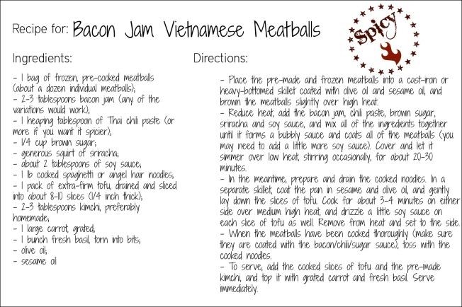 BJV meatballs recipe card