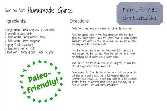 gyros recipe card