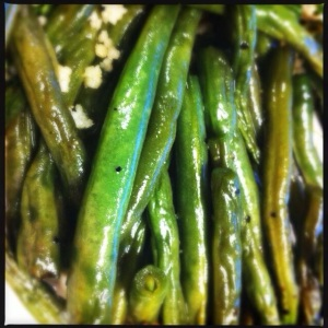 green beans with fish sauce