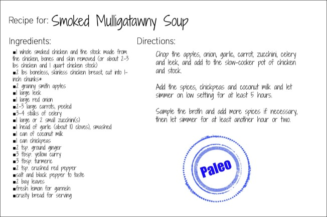 smoked mulligatawny recipe card