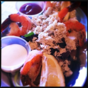 blue crab and shrimp salad