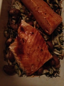 miso-orange glazed salmon