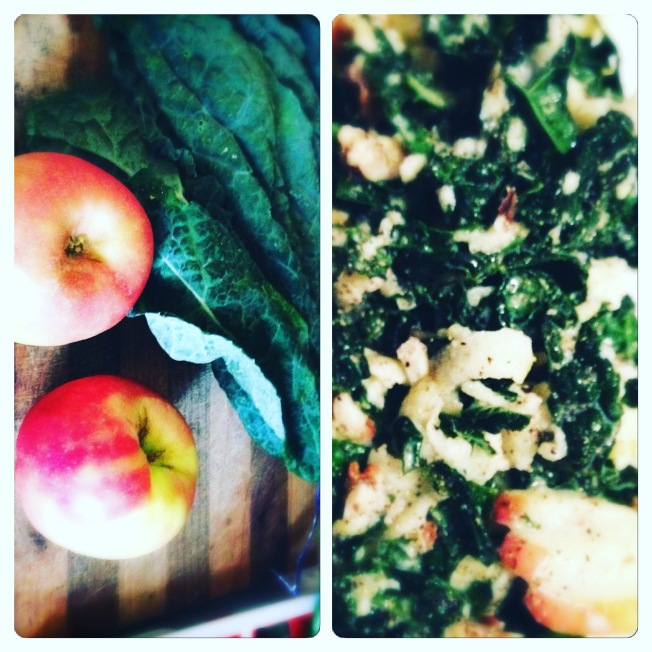 kale and apple salad