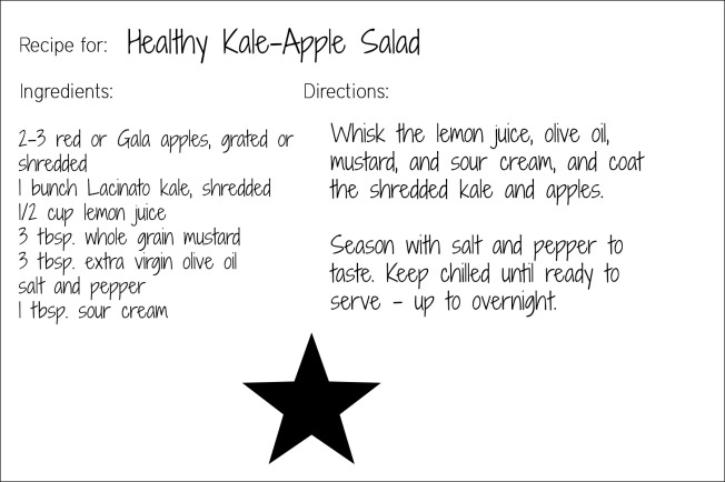 kale apple salad card