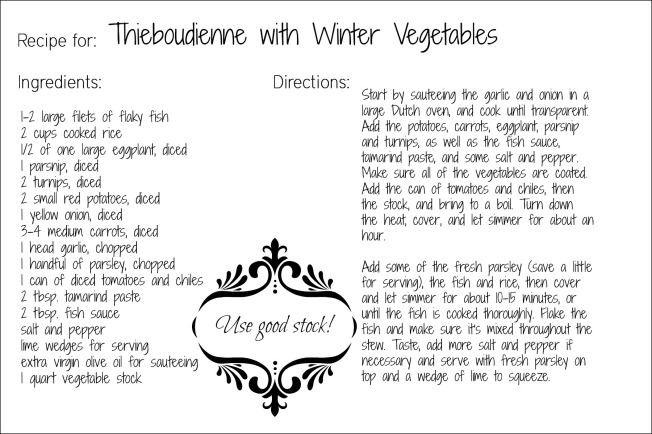 thieboudienne recipe card