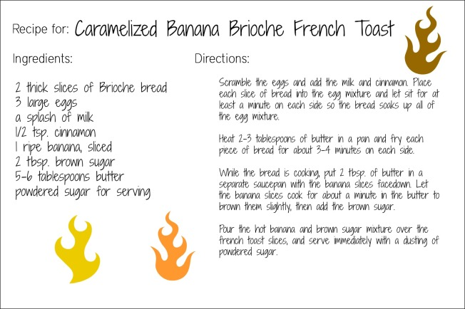 french toast recipe card