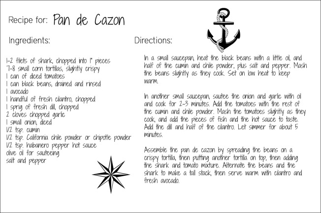 pan de cazon recipe card