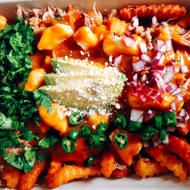 Mexican Poutine with Carnitas