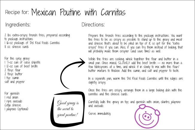 Mexican Poutine recipe card