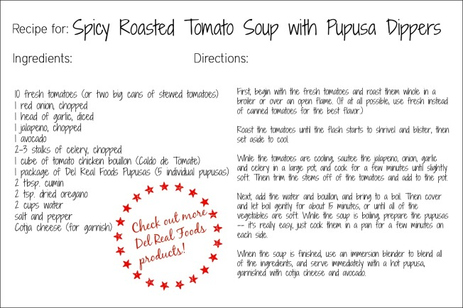 tomato soup recipe card