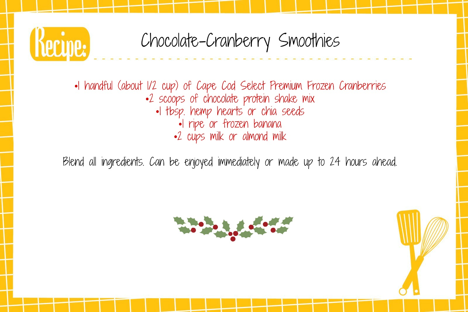 Contests starbrights kitchen recipe card smoothie yadclub Gallery