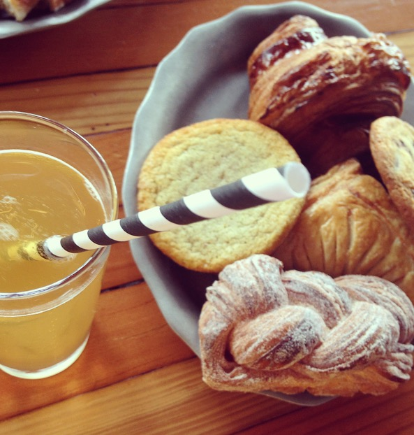 pastries and kombucha