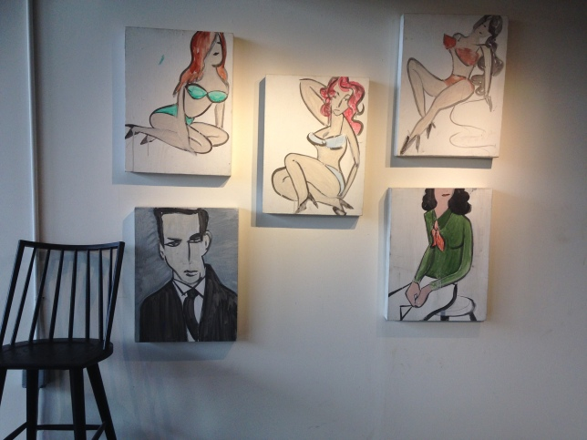 Art on display in the private event space next door to Herb & Eatery