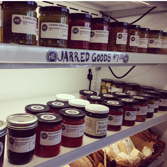 Jars of goodness at Herb & Eatery